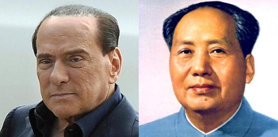 Silvio Berlusconi si traveste da Mao Tse-tung per una delle sue famose cene eleganti in costume